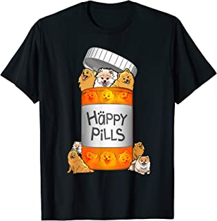 Pomeranian Happy Pills T-shirt