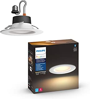 Philips Hue White Ambiance LED Smart Retrofit 5/6-inch Recessed Downlight, Bluetooth & Zigbee Compatible, Warm-to-Cool Whi...