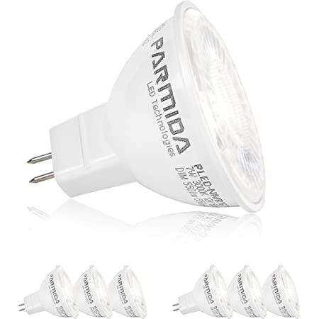12V 16 Pack Enclosed Fixture Rated Luxrite MR16 LED Bulb 50W Equivalent GU5.3 LED Spotlight Bulb 6.5W Perfect for Track and Home Lighting 4000K Cool White Dimmable 500 Lumens