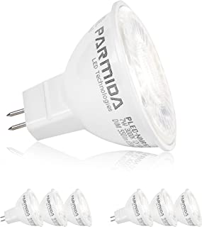 (6 Pack) Parmida LED MR16 Bulb, GU5.3 Base, Dimmable, 7W (50W Equivalent), 2700K(Warm White), 500lm, Spot Light Bulb, Energy Star, UL-Listed, 40° Beam Angle, 12V AC/DC, Track Lighting, Spotlight