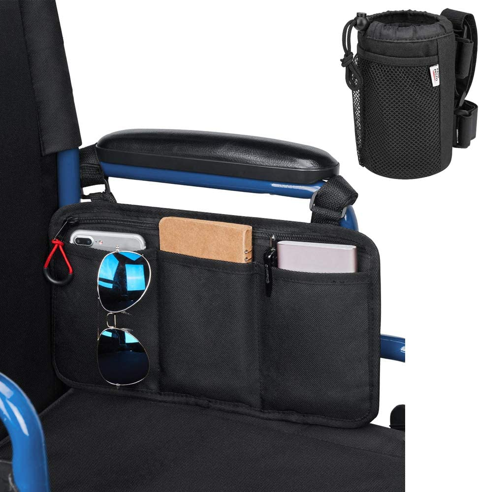 kemimoto Wheelchair Side Choice Storage New sales with Bundle Bag Cup