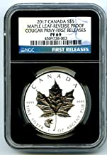 2017 Canada Coin Canadian Silver Maple Leaf Reverse Proof HOWLING COUGAR Privy FIRST RELEASES $5 PF69 NGC