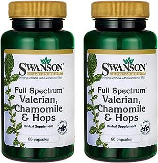 Swanson Full Spectrum Valerian Chamomile & Hops 60 Capsules (2 Pack)
