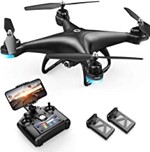 Holy Stone HS110D Indoor Drone with Camera, 1080P Wide Angle HD with 2 Batteries, Less Than 7.1 oz (200 g), Altitude Hold, FPV Real Time Gesture Photography, Headless Mode, Body Sensory Control Mode, Track Flight Mode, Mode 1/2 Free Conversion, Domestic C
