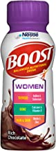 BOOST Women Balanced Nutritional Drink, Rich Chocolate, 8 Ounce Bottle (Pack of 24) (Packaging May Vary)