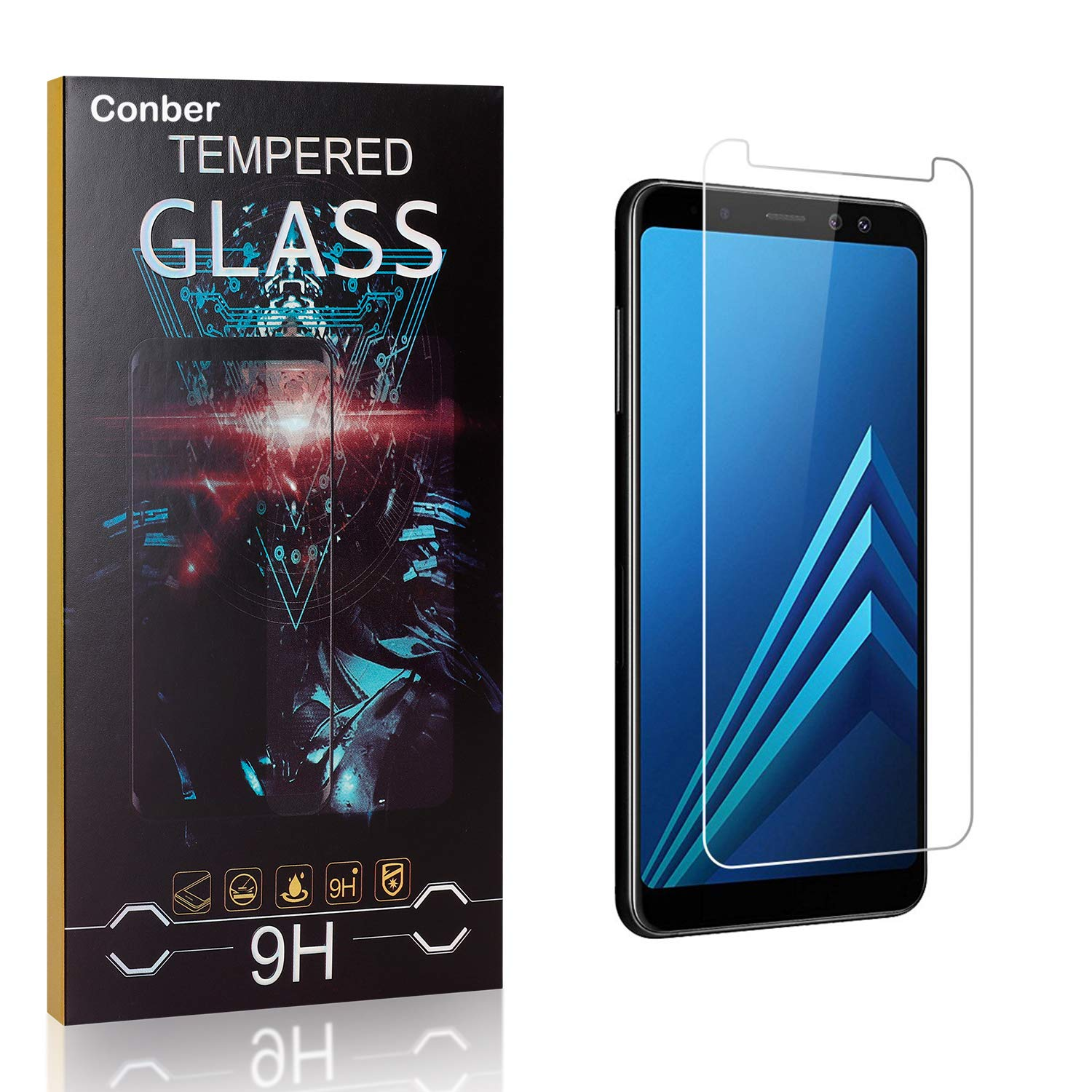 Conber Screen Protector for Quantity limited Samsung Galaxy 3 9H New life A5 2018 Pack