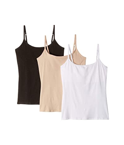 PACT Everyday Camisole w/ Shelf Bra 3-Pack (White/Champagne/Charcoal Heather) Women