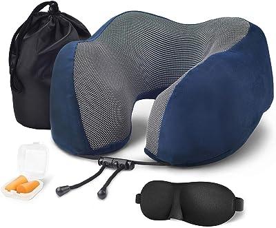 Amazon.com: longble forma de U cuello almohada de viaje ...