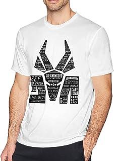 Maichenxuan D-Ie A-Ntwoord Logo Hombres Classic Transpirable Camiseta Casual Cuello Redondo Fácil Tee Hip Hop Túnica Blanco