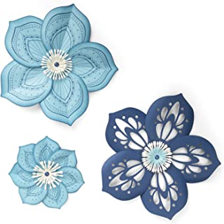 Sizzix 663133 Framelits Die Set with Stamps, Rosette Flower by David Tutera (5-Pack), Multicolor