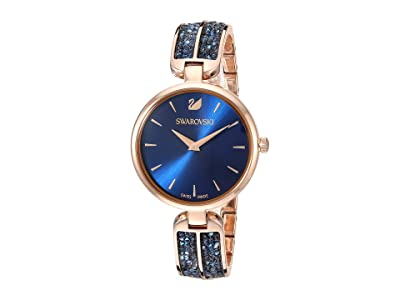 Swarovski Dream Rock Watch Rose Gold Tone (Blue) Watches