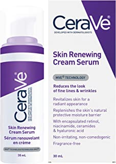 CeraVe Anti aging retinol Serum for Face | Cream Serum to help Smooth Fine Lines | Fragrance Free, 30 Milliliters