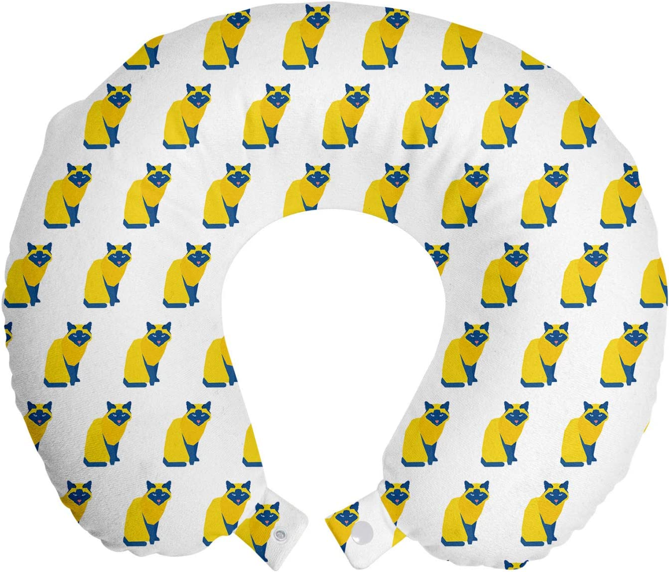 Ambesonne Animal Travel Milwaukee Mall Pillow Neck Dedication Rest Continuous Ch Colorful