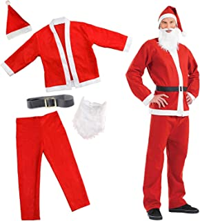5d2baac69c7c4 The Twiddlers Costume de Père Noël Festif - Costume Parfait de Fête de Noël  Déguisée -