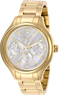Invicta Women's Angel 38mm Gold Tone Stainless Steel Crystal Accented Quartz Watch, Gold (Model: 28654)