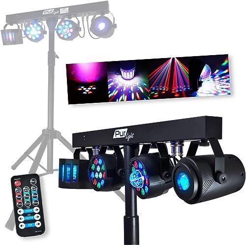Portique + 4 effets lumière PAR/ASTRO/BEAM/DERBY + Télécommande - DMX - Pur Light EUPHORIA