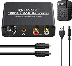 Adaptador convertidor de Audio Digital a anal/ógico Fibra Kabel Adaptador convertidor de Audio coaxial /óptico Digital a anal/ógico RCA Negro