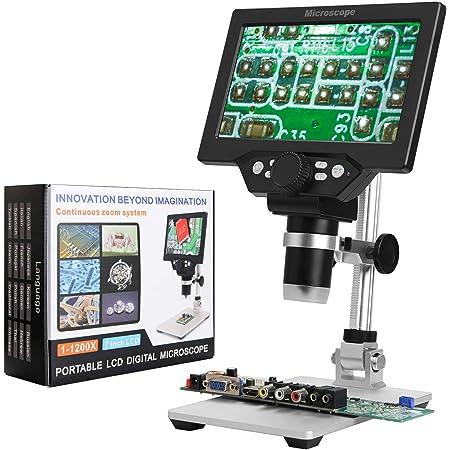Andonstar Microscopio digitale per riparazione telefono strumento di saldatura gioielli valutazione uso biologico 4,3 pollici 1080P LCD digitale USB Microscopio