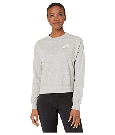 Nike NSW Gym Vintage Crew (Dark Grey Heather/Sail) Women