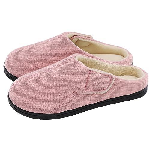 8cd718783cf Ladies  Comfort Velvet Memory Foam Slippers Short Plush Clog Indoor    Outdoor Orthopedic Shoes w
