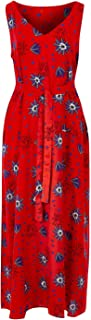 That Bird Label Womens Calf Length Dresses Evelyn Throw Dress Electric Bloom Red