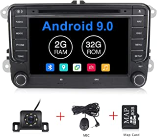 Android 9.0 OS 7 inch Touch Screen Car Radio Systems DVD for VW Volkswagen Beetle Skoda Golf 5 Golf 6 Polo Passat B7 T5 CC Jetta Tiguan Vehicle GPS Car Multimedia Navigation