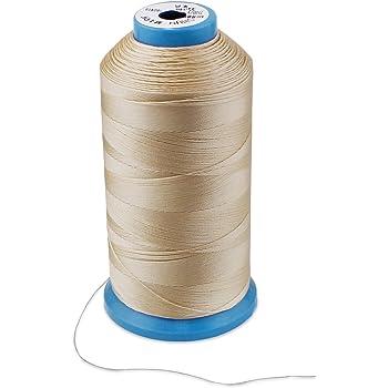 WheateFull - Hilo de coser de nailon fuerte para exteriores, asientos de cuero, bolsos, zapatos, lona, tapicería y máquina de coser beige: Amazon.es: Hogar