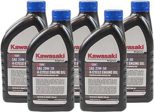 2021 Pack of 5 Kawasaki popular 99969-6298 discount Genuine OEM K-Tech SAE 20W-50 4-Cycle Engine Oil online sale