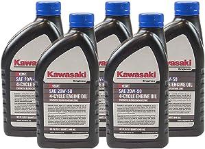 Pack of 5 Kawasaki 99969-6298 Genuine OEM K-Tech SAE 20W-50 4-Cycle Engine Oil