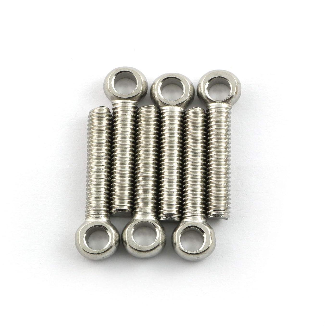 6pcs M6x30mm Eye Bolt Screw Lifting Ring Eye Bolts 304 Stainless Steel Axle Pin Split Pin Shaft Pin Dowel Bolt Ring Screw Loop Hole Bolt