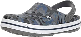 Crocs Crocband Camo Graphic III Adults Clog, Slate Grey
