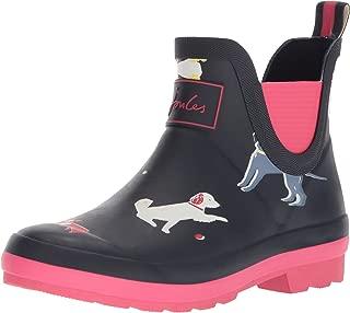 Girls' JNRWELLIBOB Rain Boot, Navy Sunday Best Dog, 3 Medium US Infant