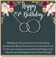 Dear Ava 25th Birthday Gift Necklace: Birthday Gift, Jewelry Gift for Her, 2 Interlocking Circles