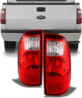 For Ford F250/F350/F450 Superduty OE Replacement Red Clear Tail Lights Driver/Passenger Rear Lamps Pair