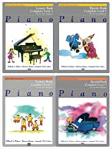 Alfred's Basic Piano Library: Complete Level 1 For the Later Beginner Books Set (4 Books) - Lesson Book Complete Level 1, Theory Book Complete Level 1, Technic Book Complete Level 1, Recital Book Comp