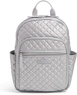 Vera Bradley Signature Cotton Small Backpack, Silver Pearl