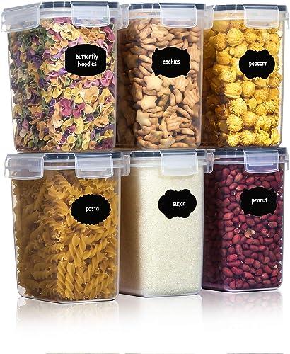 Aitsite Boîte de Conservation Alimentaire 6 Pcs, Boîtes de Rangement pour Céréales sans BPA Récipient de Stockage en ...