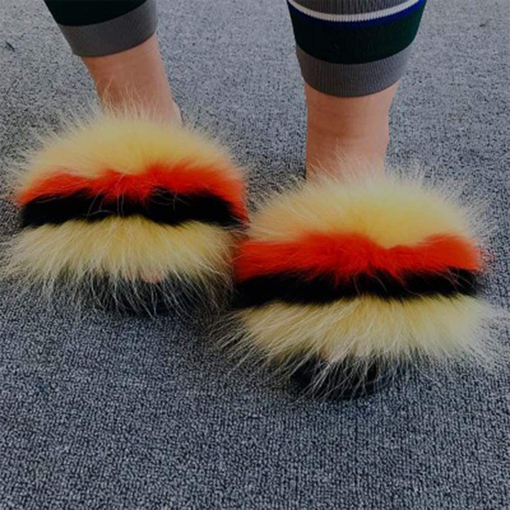 Indianapolis Mall OcaseQ Womens Ladies Faux Fur Fluffy Fluff Slippers Cute low-pricing Fashion