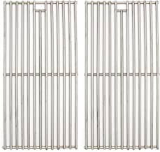 Hongso BBQ Solid SUS 304 Stainless Steel Wire Cooking Grid Grate Replacement for 2 burner Char-Broil 463645015, 466645015, 466645115, 466645115, Broil King and Others, 16 15/16 Inches, SC1702 (2-Pack)