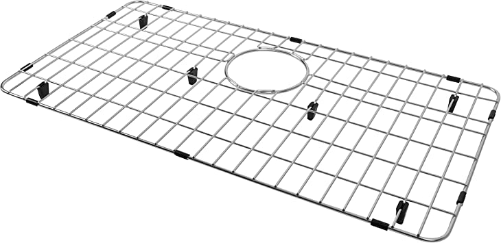 Kitchen Sink Grid and Sink Protector Grid for Stainless Steel Sink Sink Bottom Grid Stainless Steel 19 3//4 x 14 3//4 for Single Bowl Sink with Rear Drain Hole