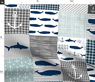 Baby whale fabric