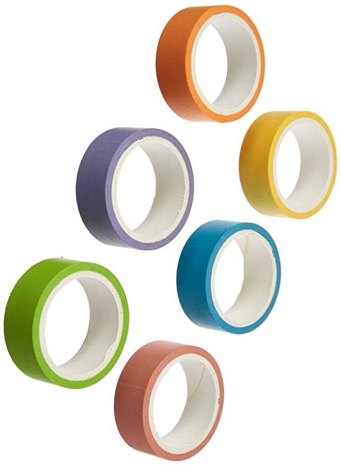 Polaroid Colorful Washi Tape Set with Full Rainbow of Pastel Colors – 6 Rolls of Crafting Tape for Zink 2x3 Photo Paper Projects (Mint, Snap, Pop, Zip, Z2300)