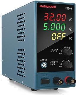 HANMATEK Laboratoriumvoeding 0-30V / 0-5A Instelbaar Laboratoriumvoeding DC Met 4 Cijferig LED Display Gestabiliseerde Sch...