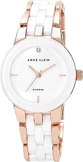 Anne Klein AK/1610BKGB Diamond Reloj de pulsera de cerámica para mujer