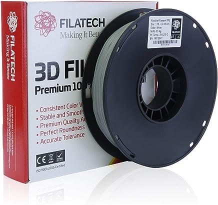 Filatech TPE Filament, Silver, 1.75mm, 0.5 kg, Made in UAE