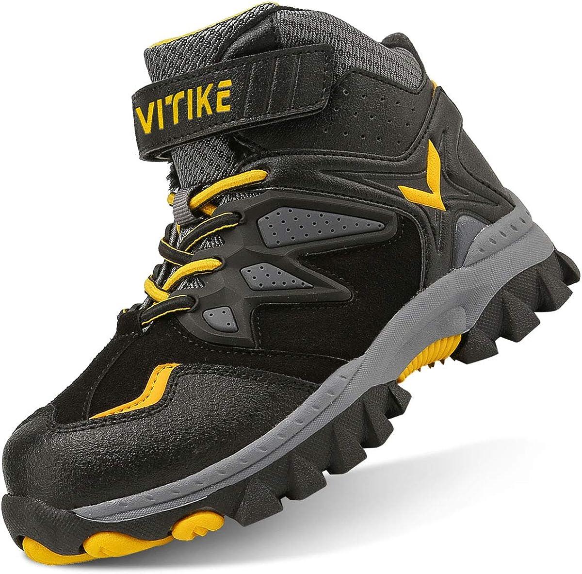 VITIKE Kids Boys Girls Waterproof Velcro Atlanta Mall Hiking Top L Ranking TOP19 High Boots