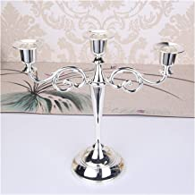 Candlesticks Hot Metal Silver/Gold Plated Candle Holders 7-Arms Stand Zinc Alloy Pillar for Wedding Portavelas Candelabra ...