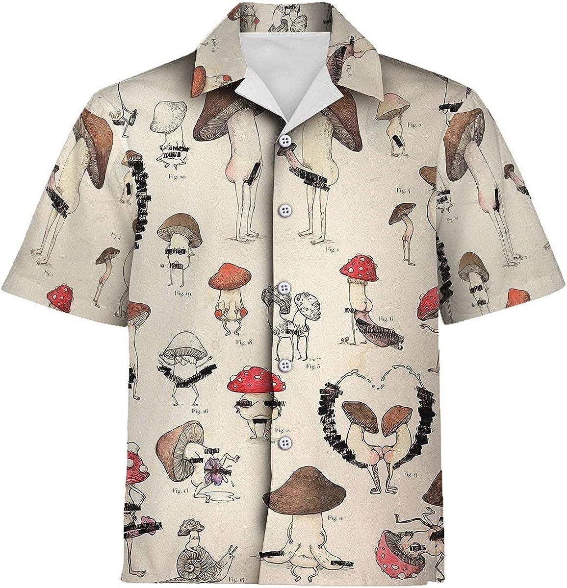 Max 89% OFF XStyles18 Limited Special Price Unisex Hawaiian Shirt Mycology Irregular Mushroom