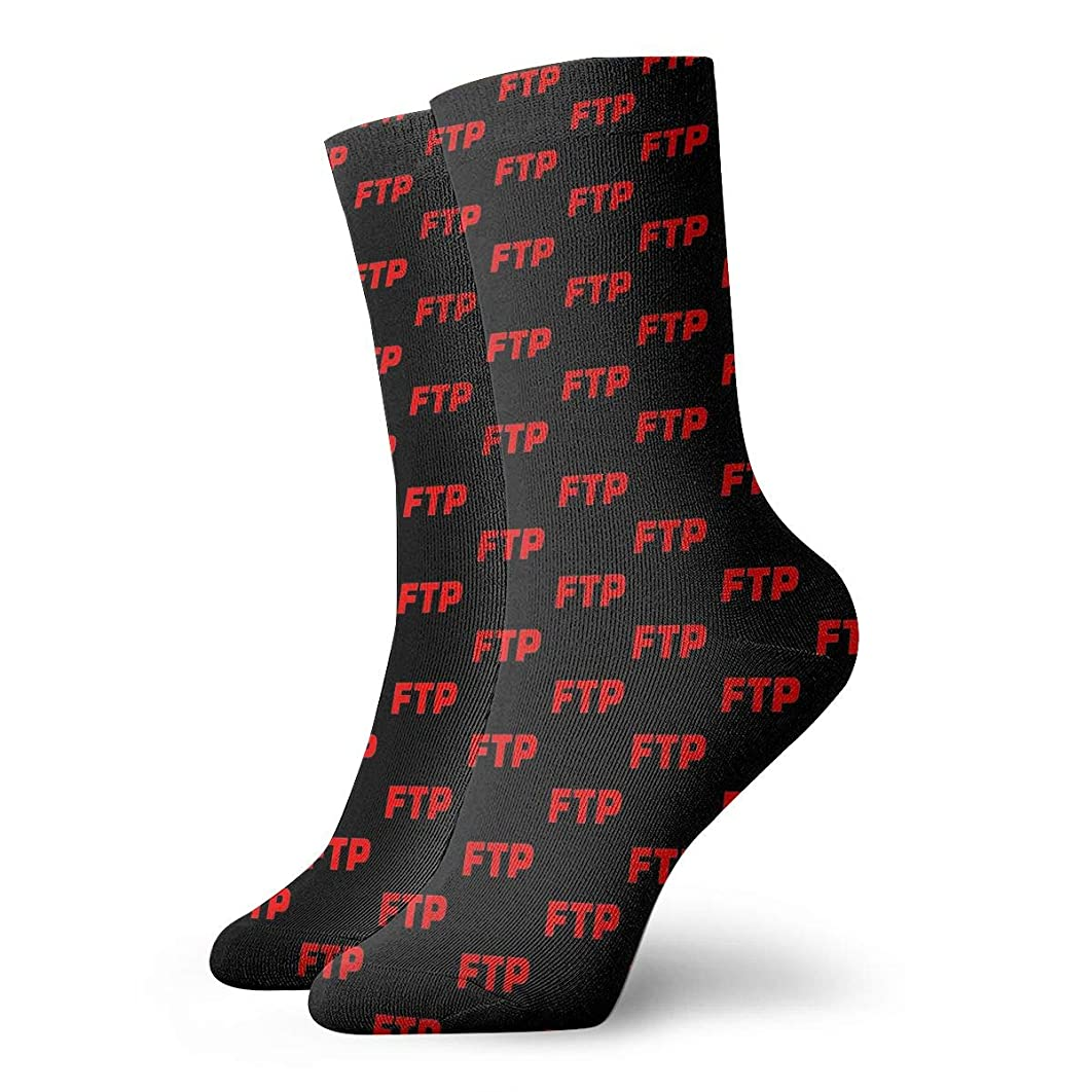 Red FTP Novelty 3D Socks, Patterned Colorful Cotton Socks, Funny Socks For Jogging,Hiking And Traveling For Men And Women
