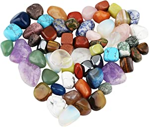 rockcloud 1 lb Tumbled Polished Stones Gemstone Supplies for Wicca,Reiki,Healing Crystal,Assorted Stones